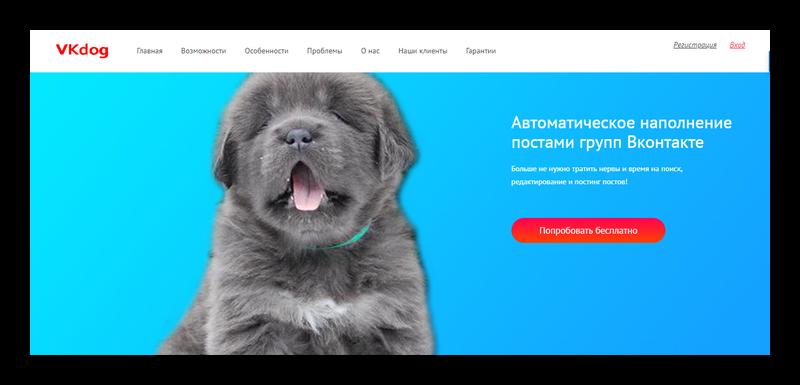 Сайт программы VKdog