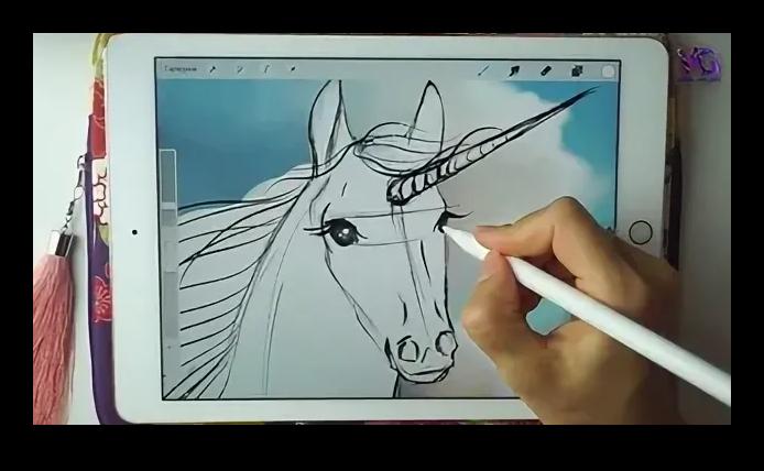 Рисование единорога лля популярности в ВК