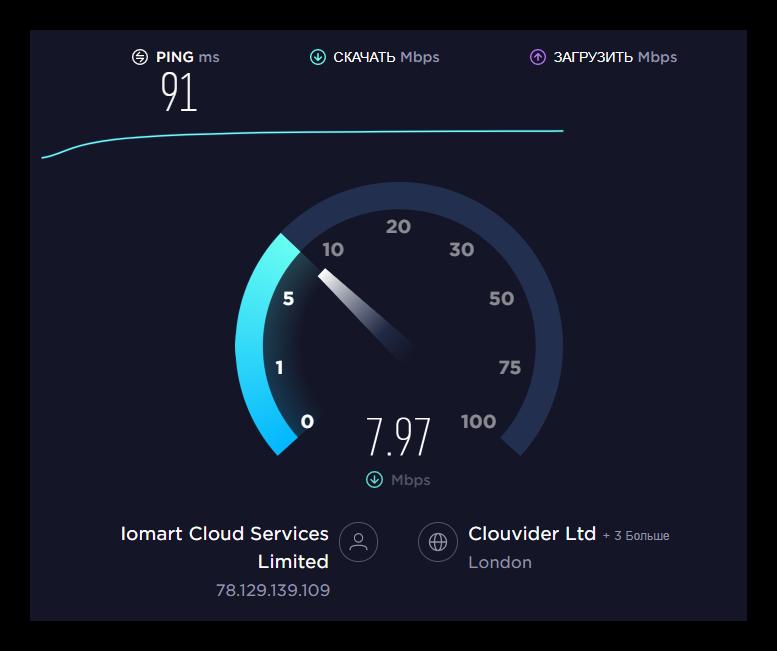 Проверка скорости интернета если не производится музыка в ВК